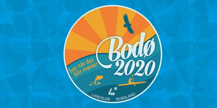 Landsleir 2020, logo med bakgrunn.