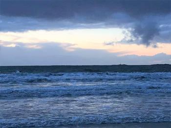 Sjø og høy himmel på Jæren