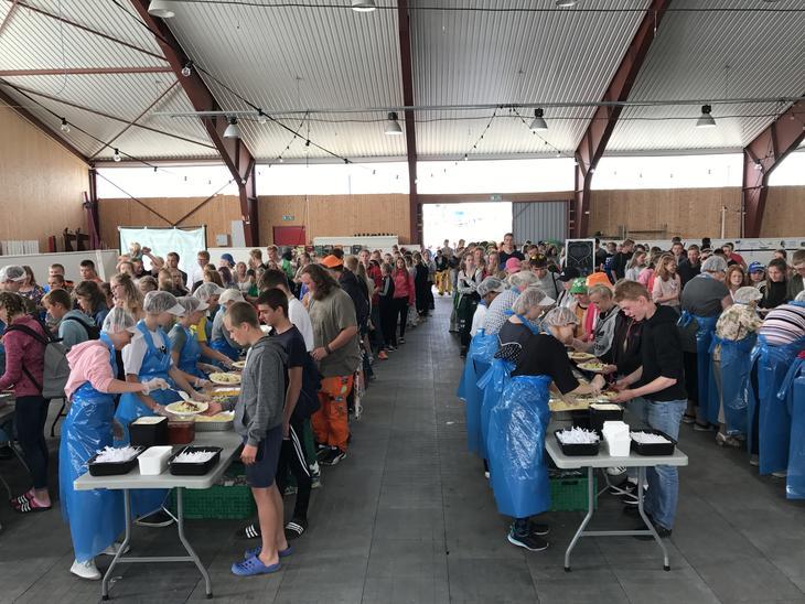 Matservering på nordisk leir i Østfold