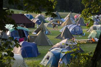 Leirområde med telt