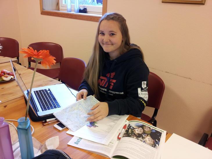En jente jobber med 4H-prosjektet sitt, foto: Camilla Nesheim
