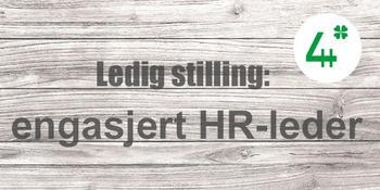 Ledig stilling: engasjert HR-leder