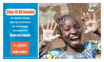 Kampanjebilde - Såpe til 4H Gambia