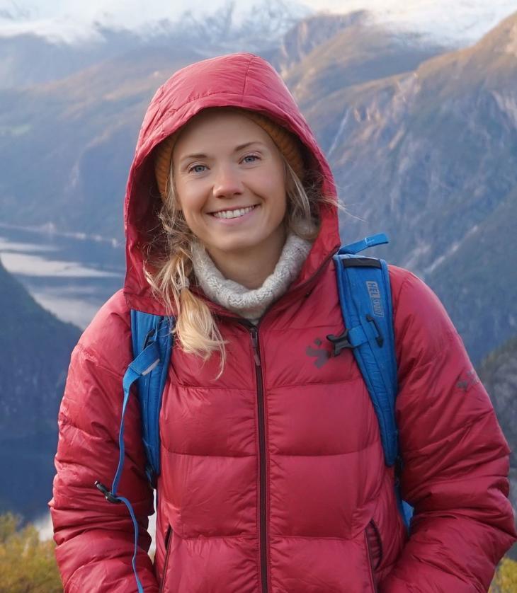Britt Ingunn på fjelltur