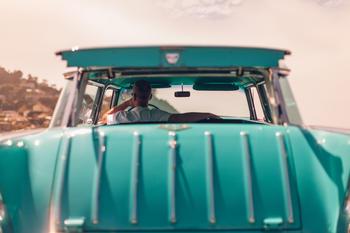 Grønn bil