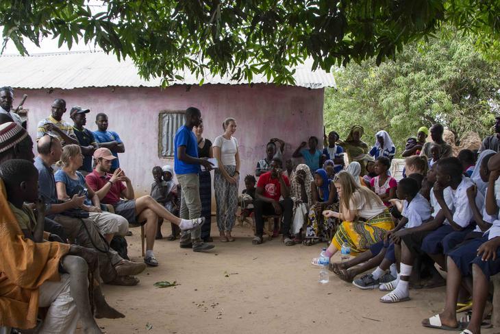 4H-ere på studietur til 4H Gambia. Foto. Håkon Rønvik