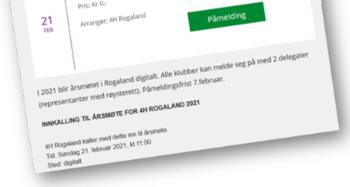 årsmøte for delegatene i 4H Rogaland