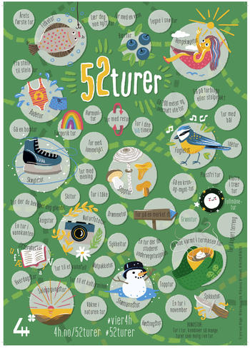 plakat med 52 turer