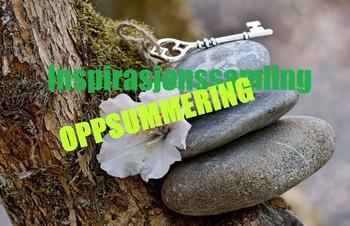tre steinar, blome, nøkkel på trestokk