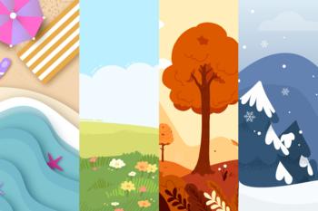 Illustrasjon årstidene