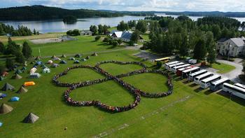 4H-kløver laget av deltagerne på Nordisk leir