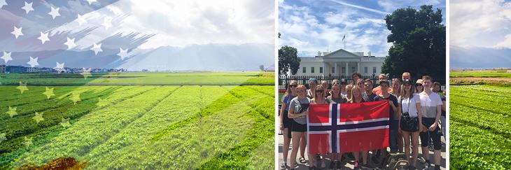 Norske 4H-ere på USA-utveksling.