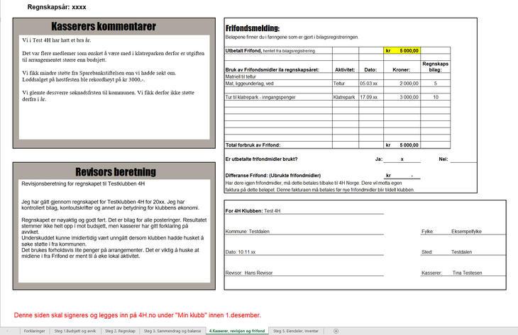 Illustrasjon: Regnskapsår_revisor, kasserer og Frifond-melding