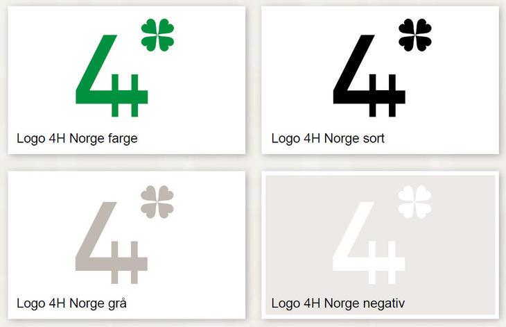 4H-logo, alle varianter