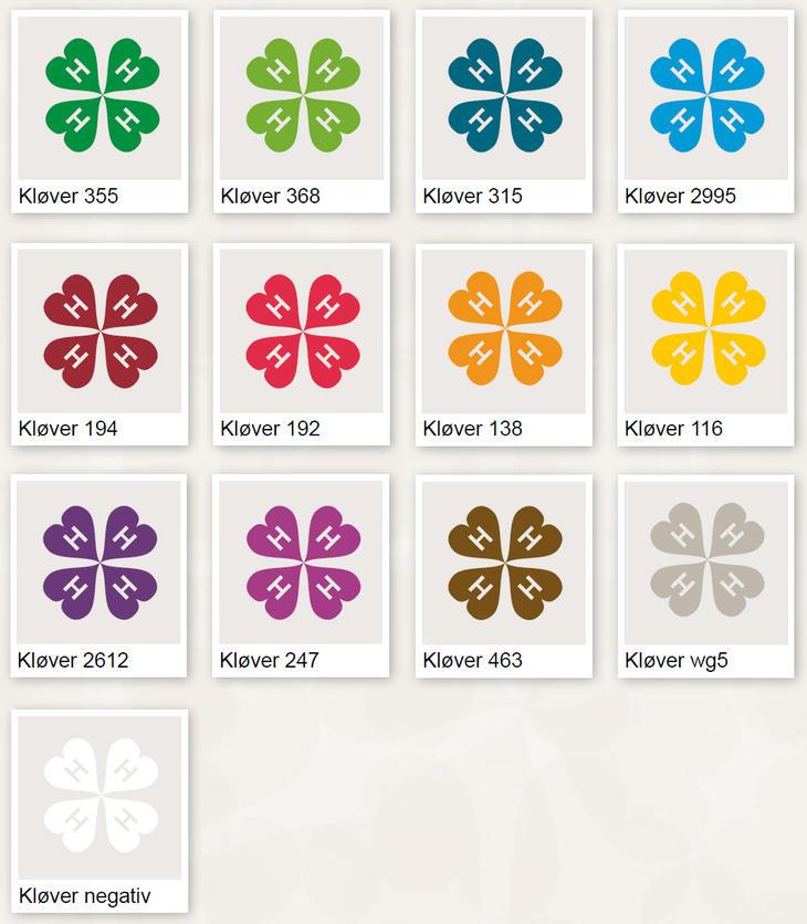 Kløver i alle farger/varianter.